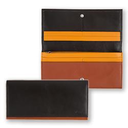 Mens' Bicolor long wallet