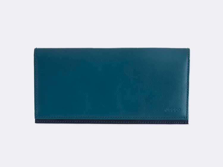 メンズバイカラー長財布